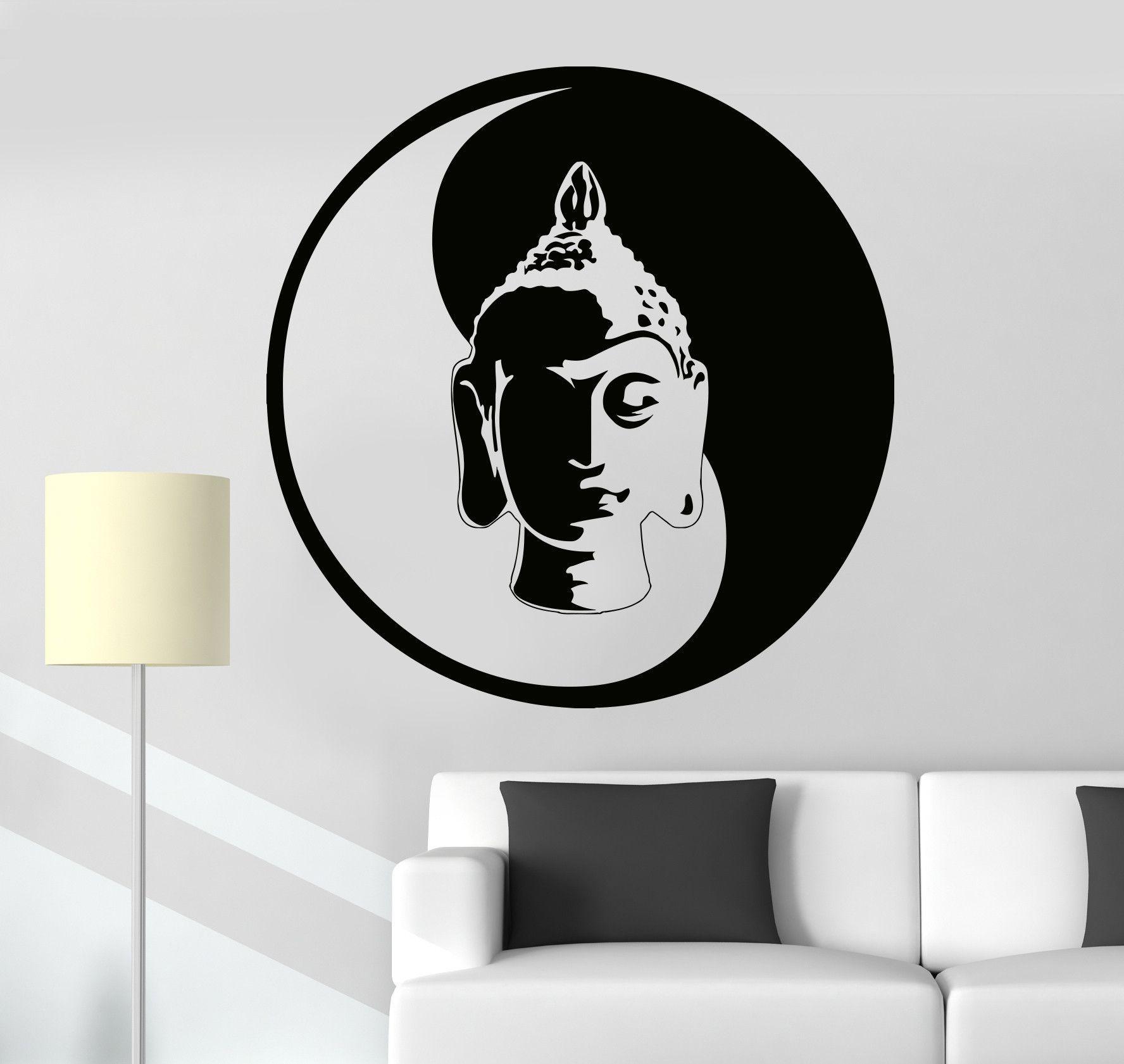 Vinyl Wall Decal Buddha Meditation Yin Yang Zen Buddhism Tao - Zen wall decalsvinyl wall decal yin yang yoga zen meditation bedroom decor