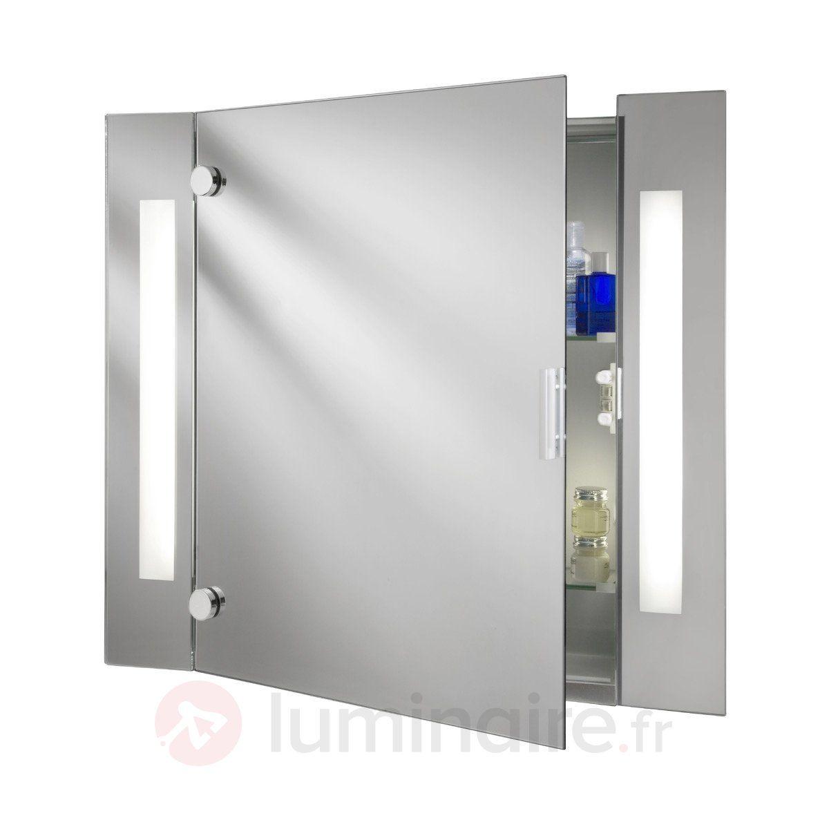 meuble miroir moderne silva avec clairage - Armoire De Salle De Bain Avec Miroir Et Lumiere