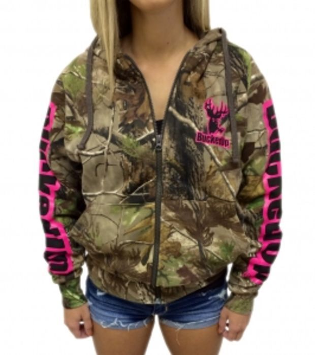 Zipper Hoodie Realtree APG Camo with Pink Logo w/ Pink