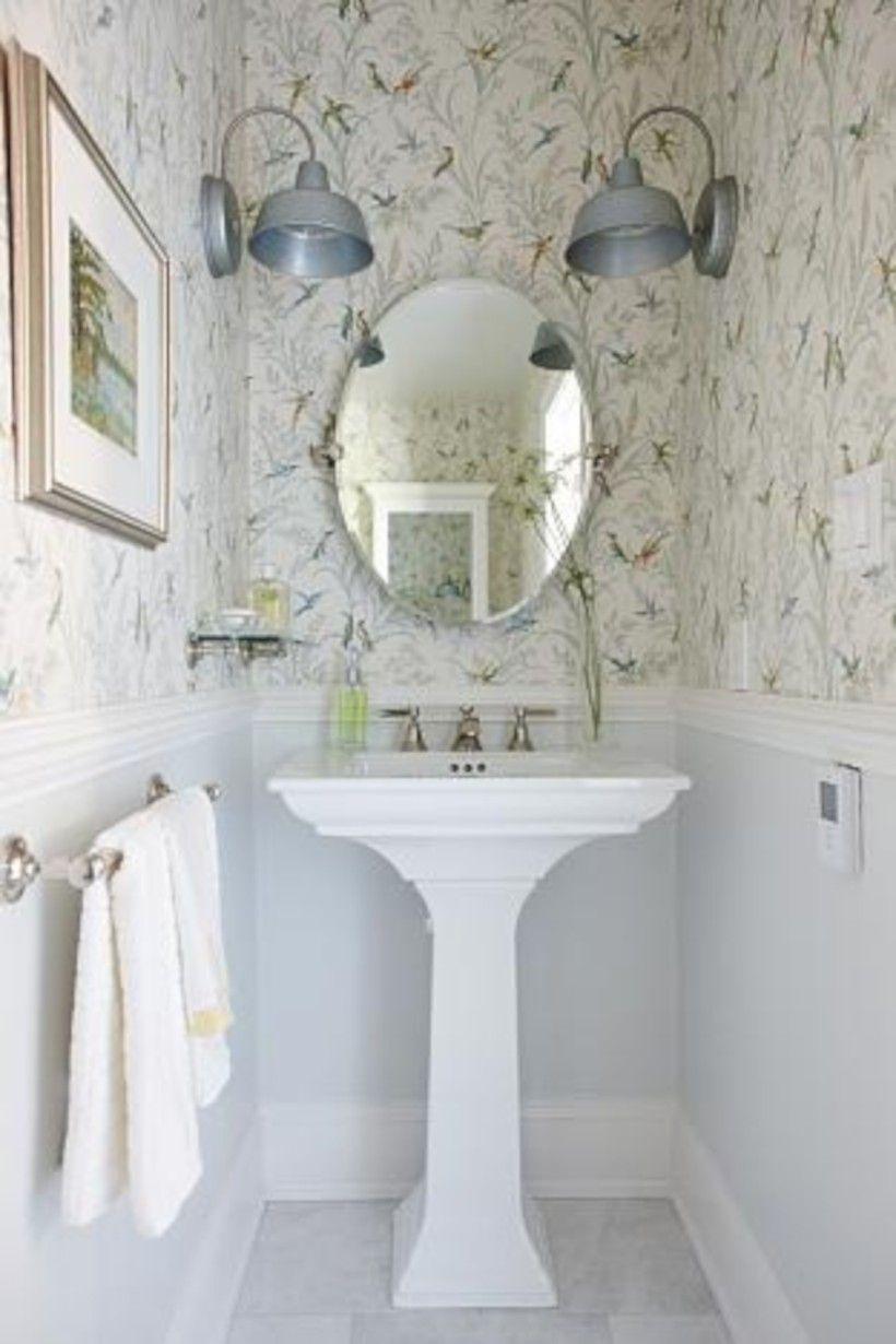 60 Cute Paint Ideas Small Bathroom Home Decor Ideas Powder Room Design Tiny Powder Rooms Powder Room Small