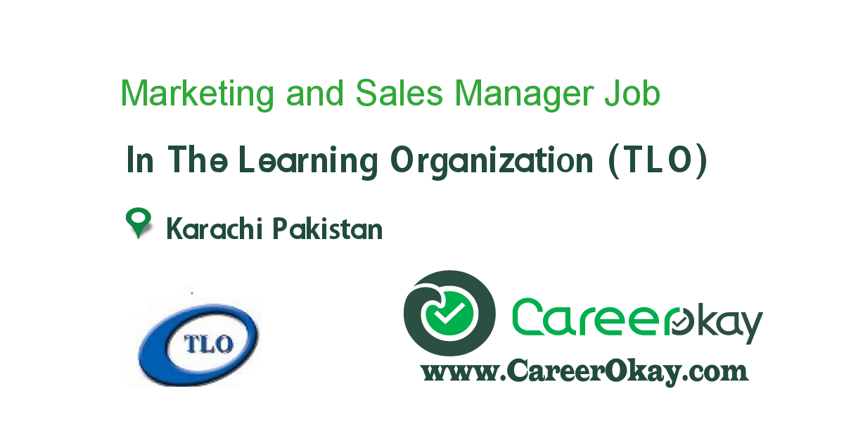 Marketing And Sales Manager  Jobs In Pakistan