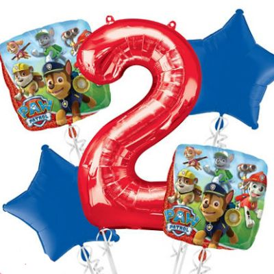 Paw Patrol 5pc Bouquet Birthday Party Foil Balloons Decorations