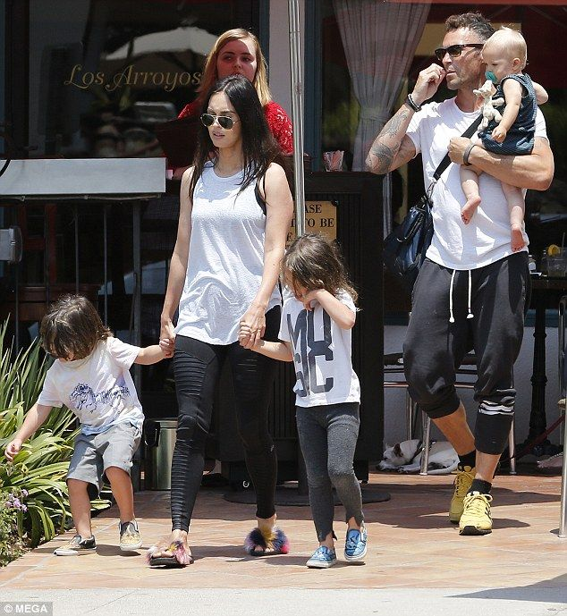 Family photo of the actress &  model, married to Brian Austin Green,  famous for Transformers, This is 40.