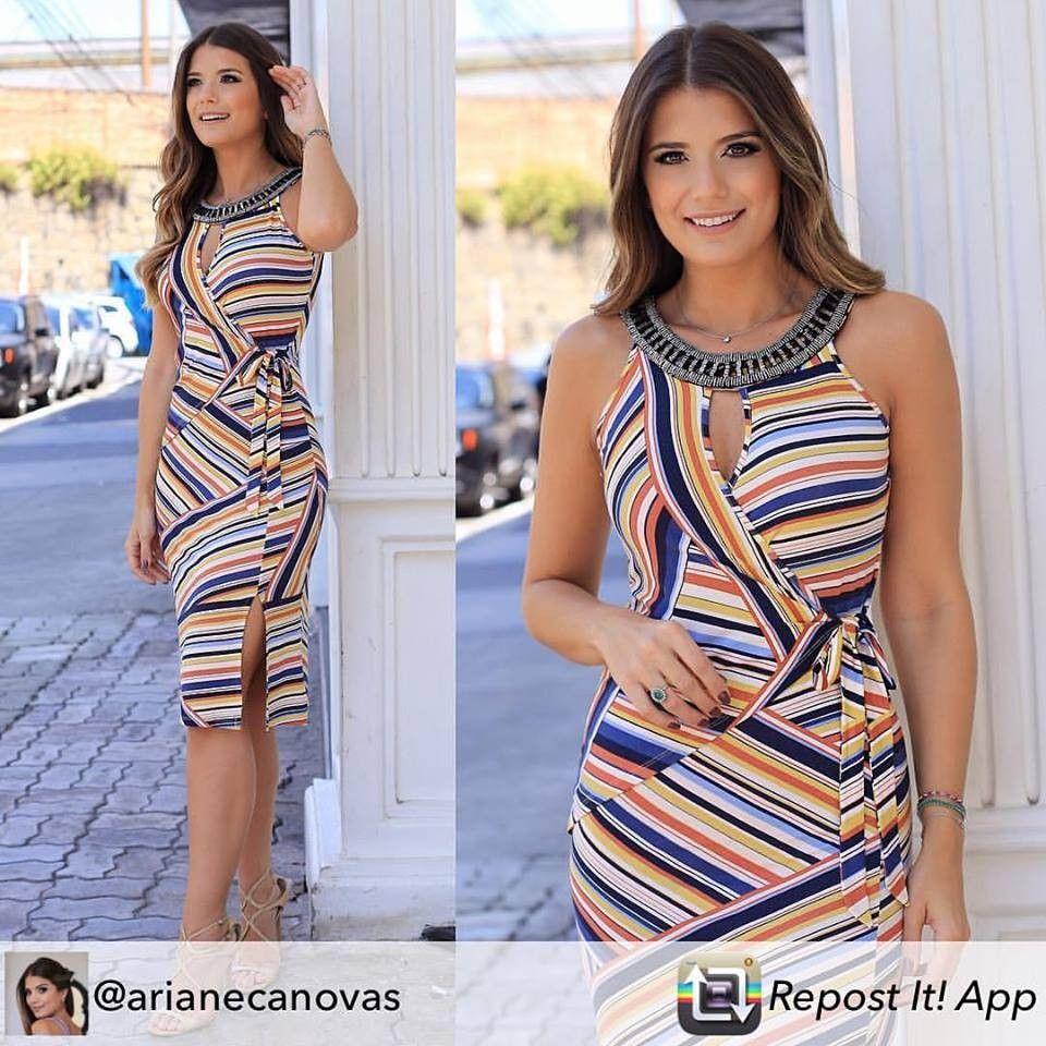 6d96db0f4973 Vestido Feminino Social Estampado Transpassado com Pedras Seiki 280712 -  Azul