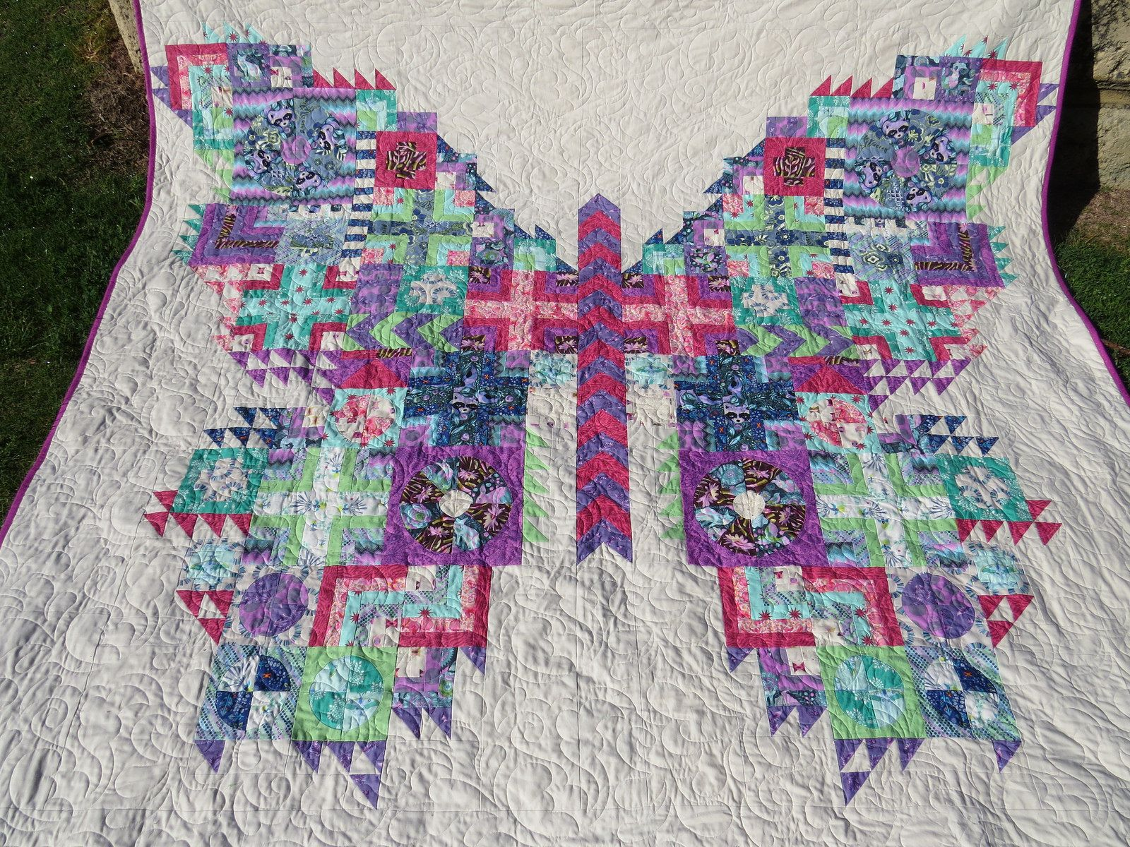 The tula pink coloring book - Tula Pink Butterfly Quilt Flickr Photo Sharing