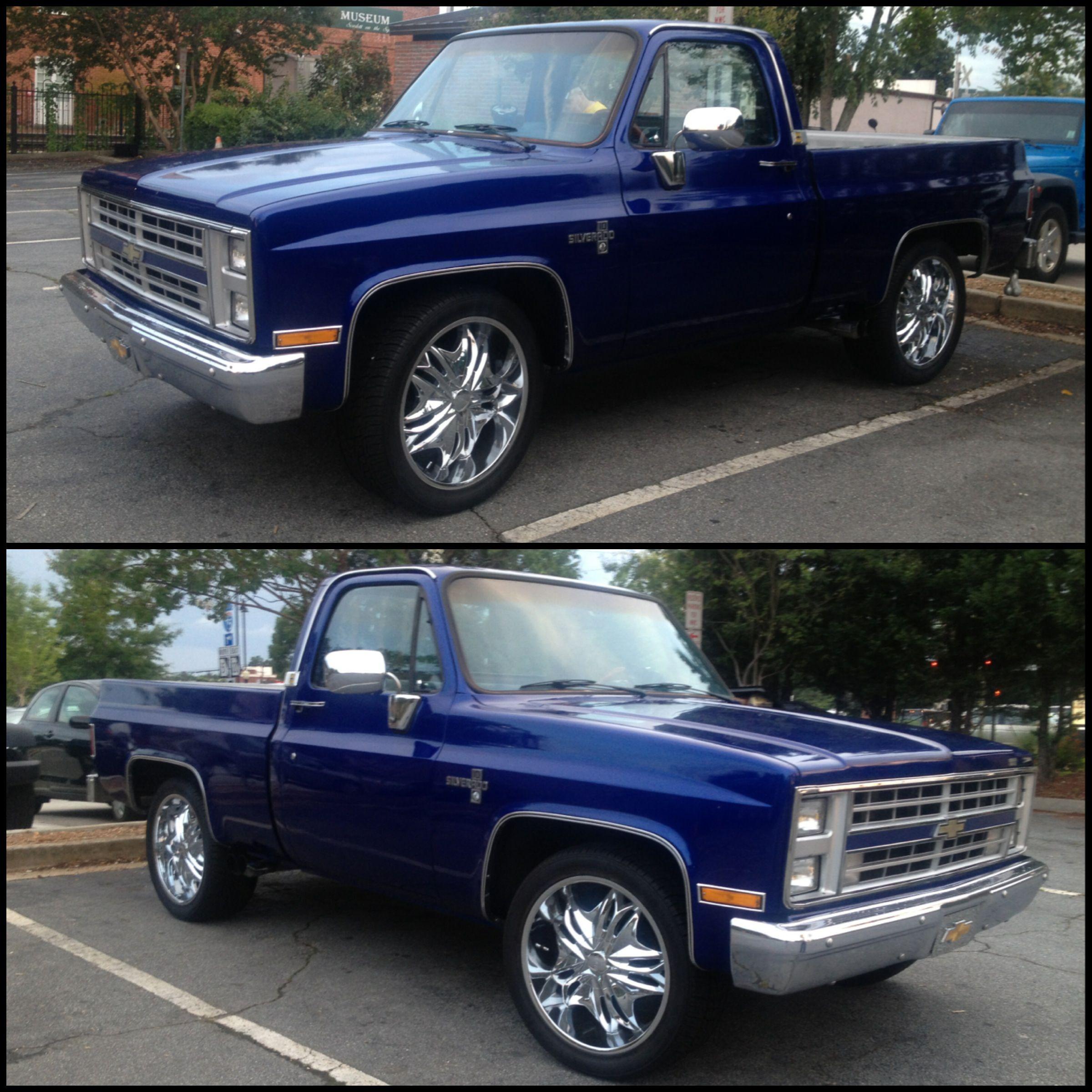 medium resolution of 1981 chevy silverado blue over blue 350 350