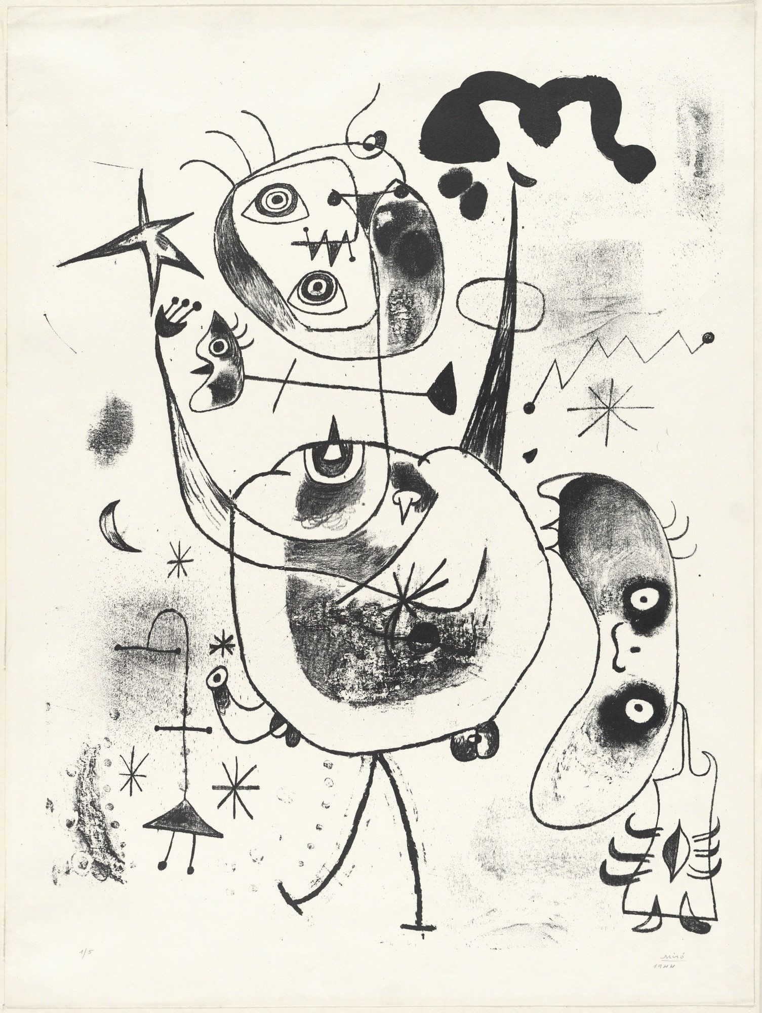 Elements Of Art Line Quizlet : Joan miró plate xxiii from the barcelona series