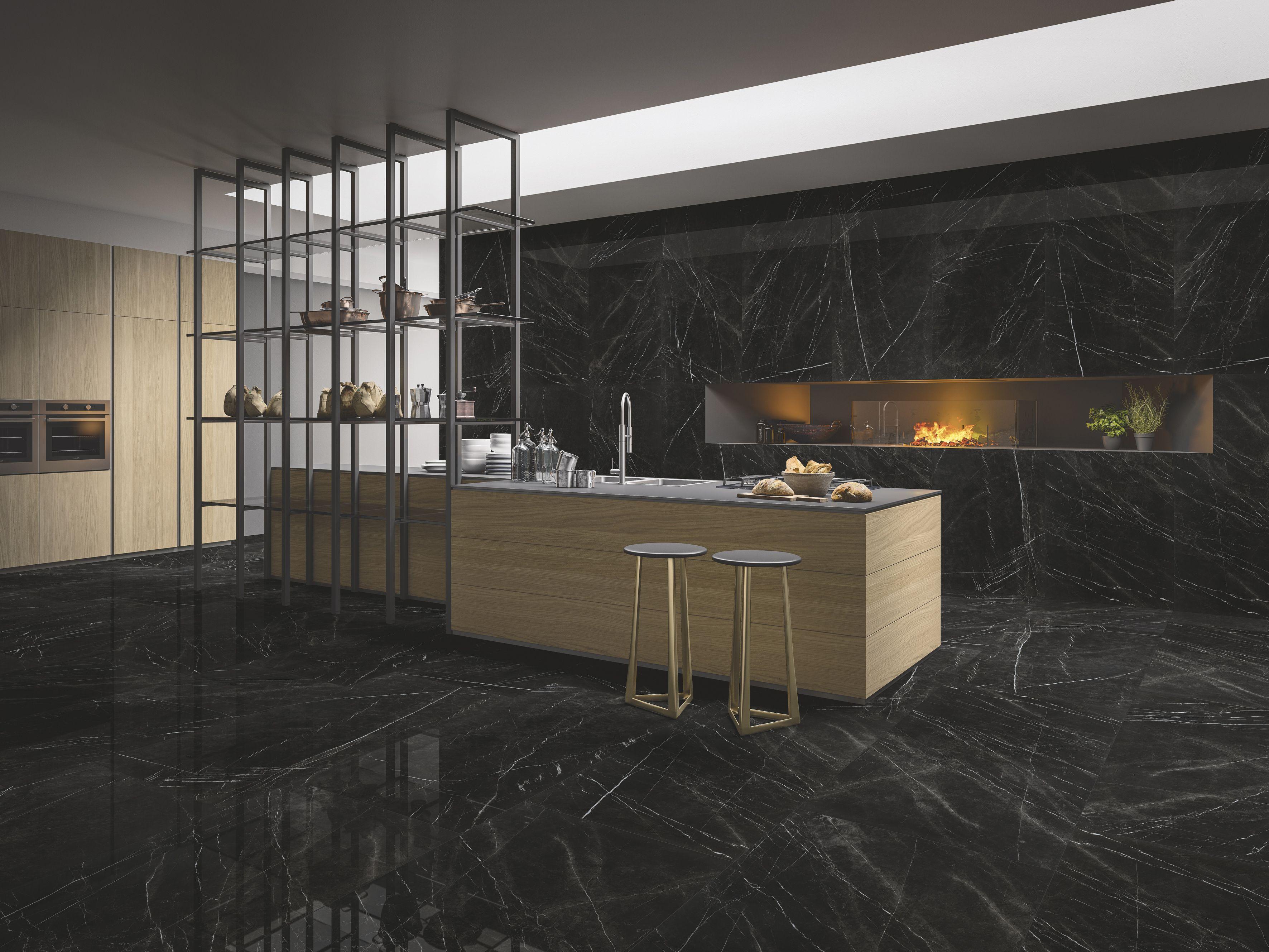 porcelain flooring black marble floor