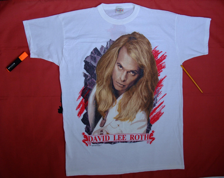 Tshirt David Lee Roth 2xl Shirt 90s Band A Little Ain T Enough Tour 1991 Metal Band Tee Van Halen Rock Concert Vintage Rocker