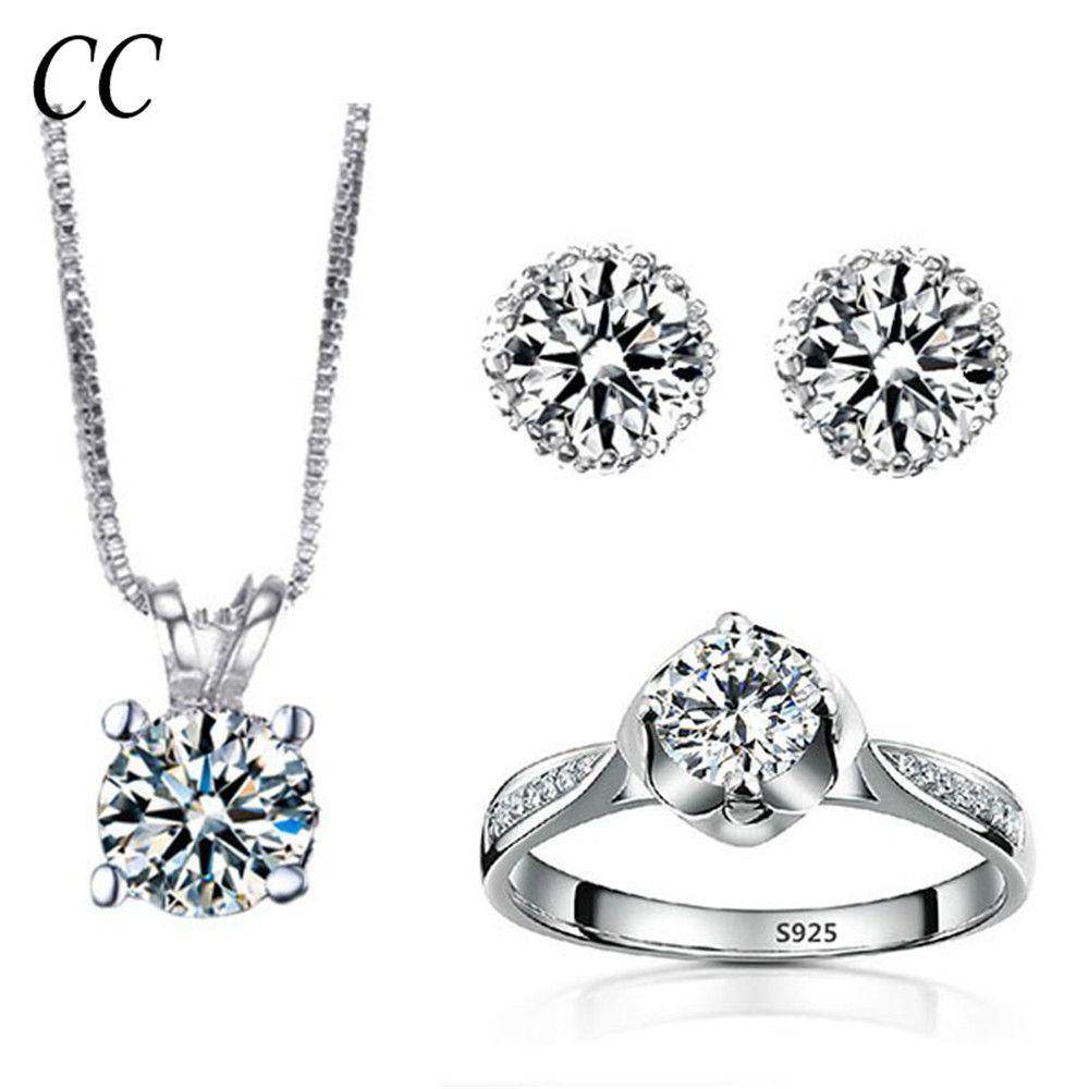 Laboratorycreated bridal jewelry sets for women classic wedding