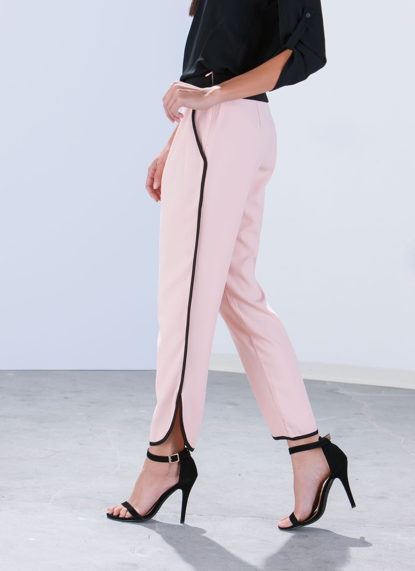 Pipe Down Trimmed Trousers