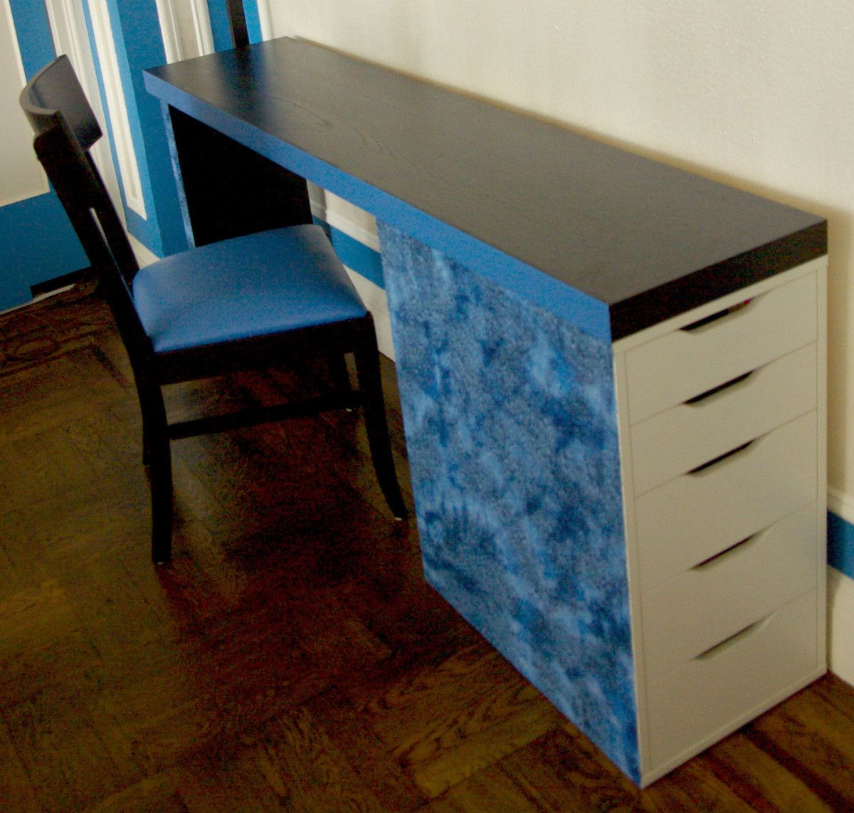 Malm Headboard + Vika Alex = Slim Desk   Slim desks, Ikea