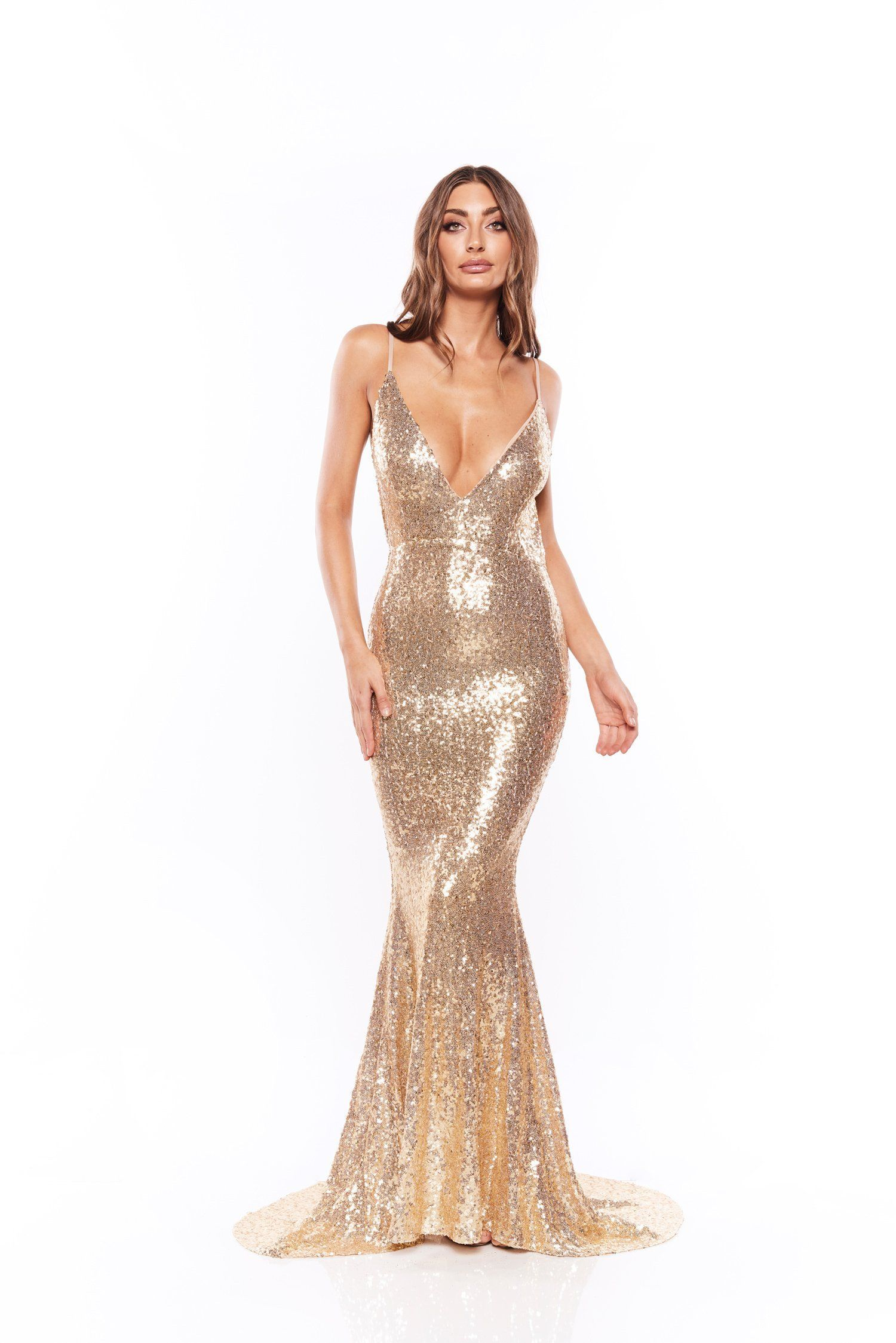 2e8f500f Yassmine Mermaid - Gold in 2019 | Evening gowns | Sequin gown, Gold ...