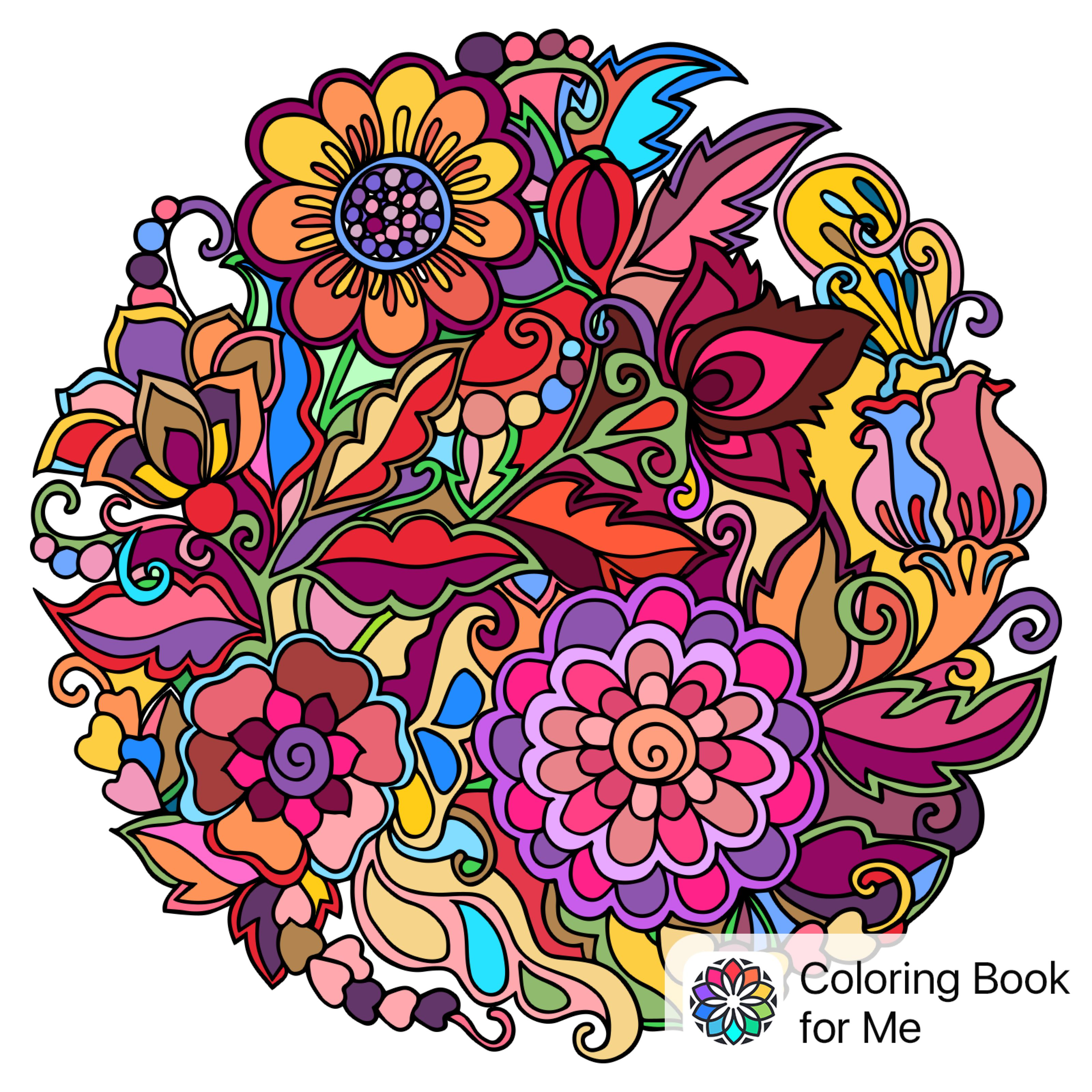 Colored With Colouring Book For Me Coloring Books Color Art Drawings