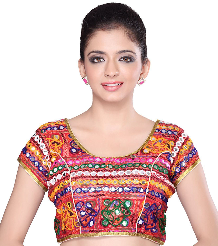 f119c640f232eb MSM Women s Cotton Regular Fit Saree Blouse (Red)