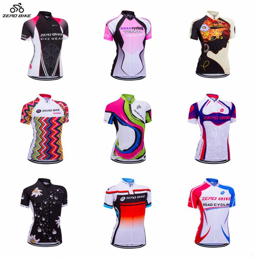 ZERO BIKE Women s Short Sleeve Cycling Jersey Quick Dry Breathable Mountain  Bike Clothing Full Zip Tops Cycling Shirt XY01    FREE Worldwide Shipping! 03375a95e