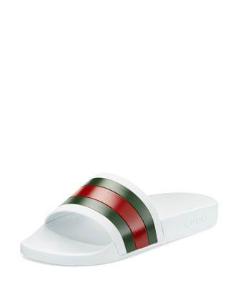 476a85a87 Gucci Rubber Slide Sandals | wishlist | Shoes, Sandals, Gucci shoes