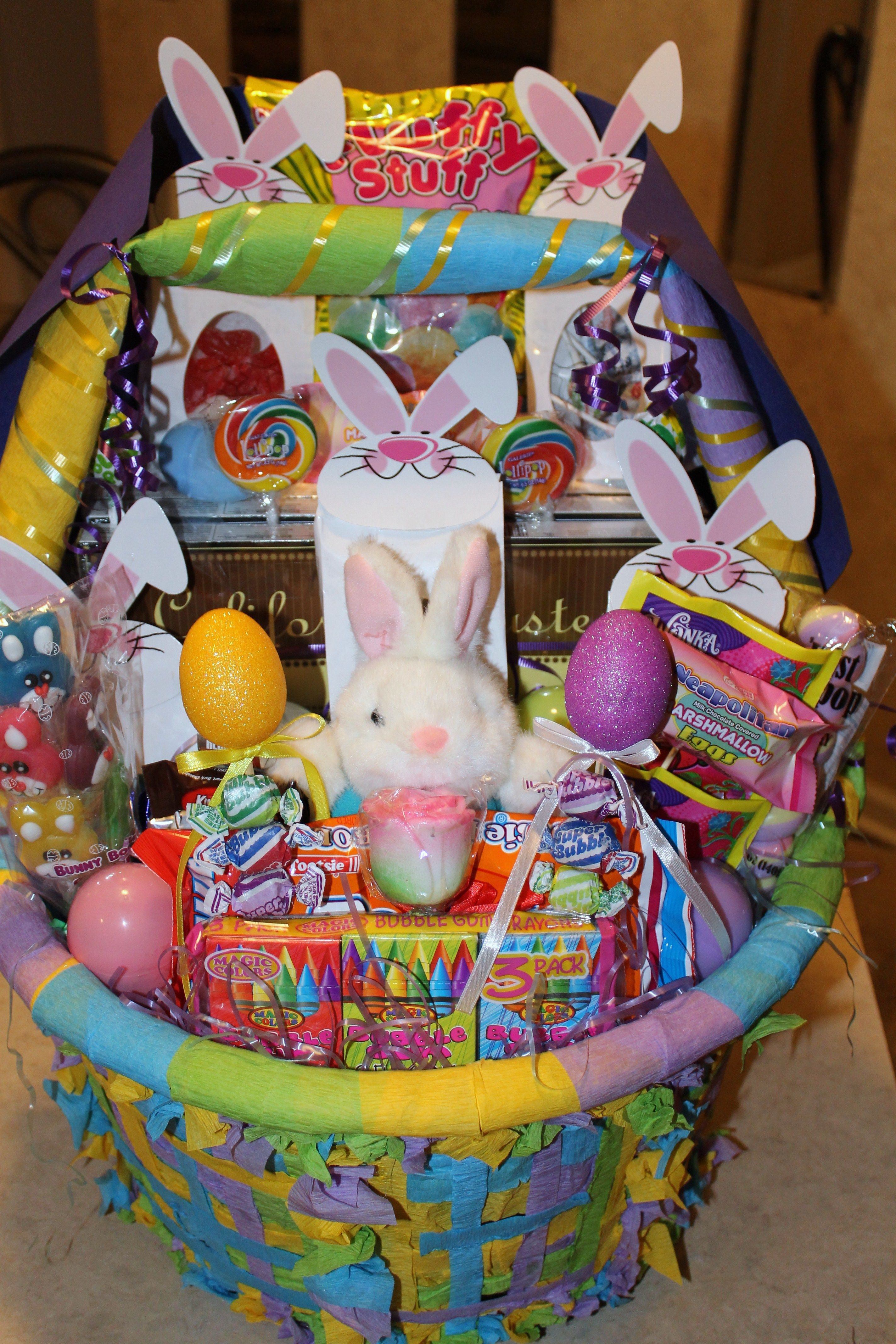 Big easter basket done with a laundy basket easter