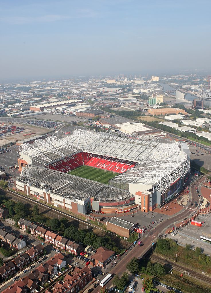 This Is A Great Shot Of Manutd S Old Trafford Home Manchester United Old Trafford Manchester United Manchester United Football Club
