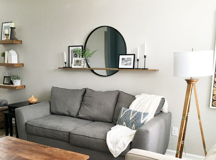 How To Decorate A Large Wall Over A Sofa Large Wall Decor Living Room Wall Decor Living Room Wall Mirror Decor Living Room