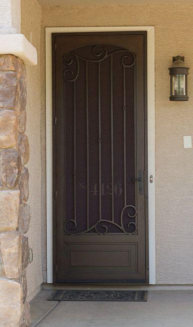 Beautiful Security Screen Door Security Screen Door Iron