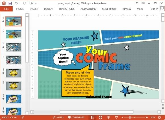 Your Comic Frame Powerpoint Template  Mastering The Art Of