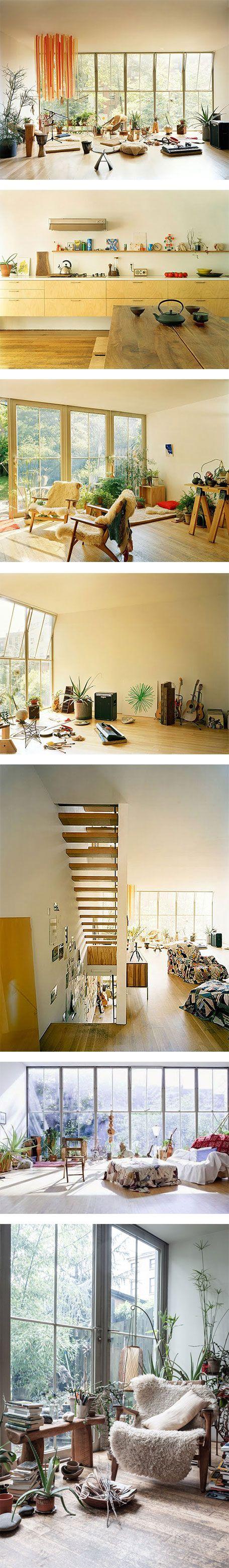 Photographer Mark Borthwick's house in Brooklyn on Nuji.com #interiordesign…