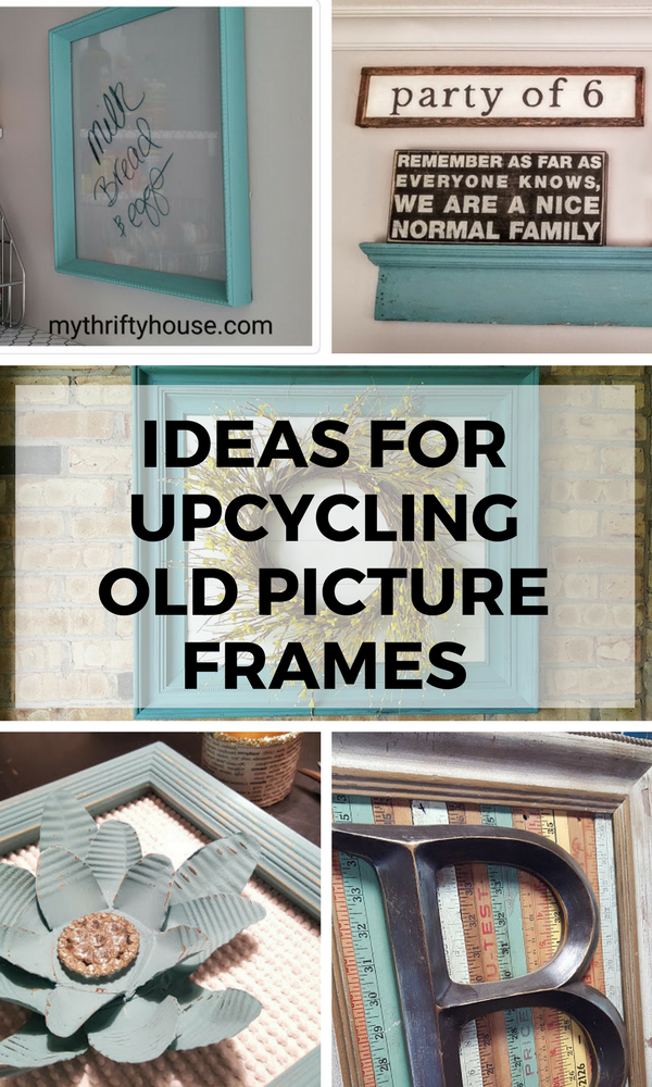 Today the Farmhouse Hens are featuring frame projects and I am so very excited to share my ideas for upcycling old picture frames. I am a huge fan of recycling, repurposing and reusing an item to keep it from the landfill.