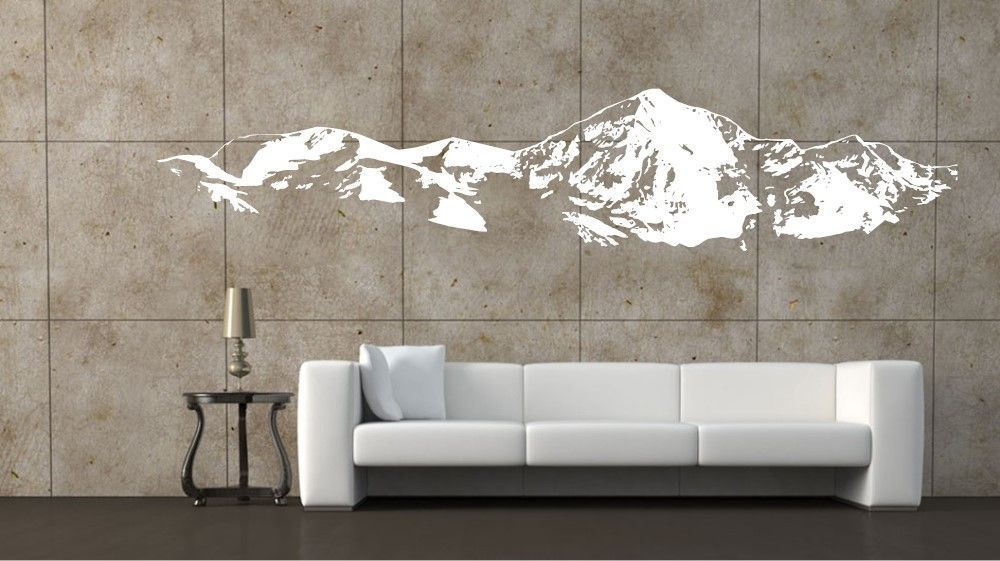 mountain range large wall art sticker decal wall decal 001 | more