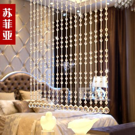 5 Strings 32 Section Of Crystal Bead Curtain Door Porch Partition