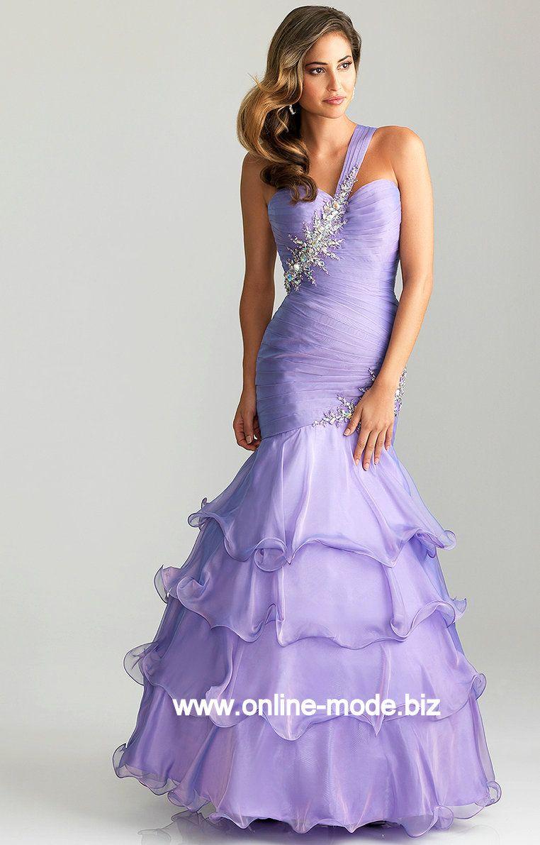 Diana Träger Abendkleid in Flieder von www.online-mode.biz | Mode ...