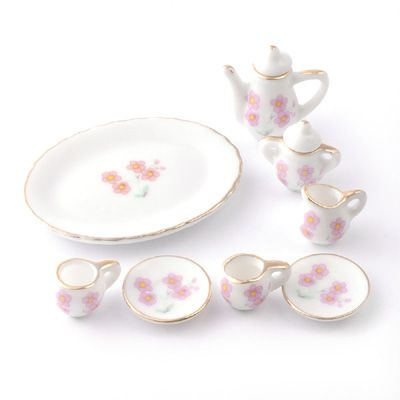 12th Scale Dolls House Accessory Coffee Set on Tray