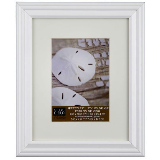 studio dcor lifestyles white frame with mat - White Frame With Mat