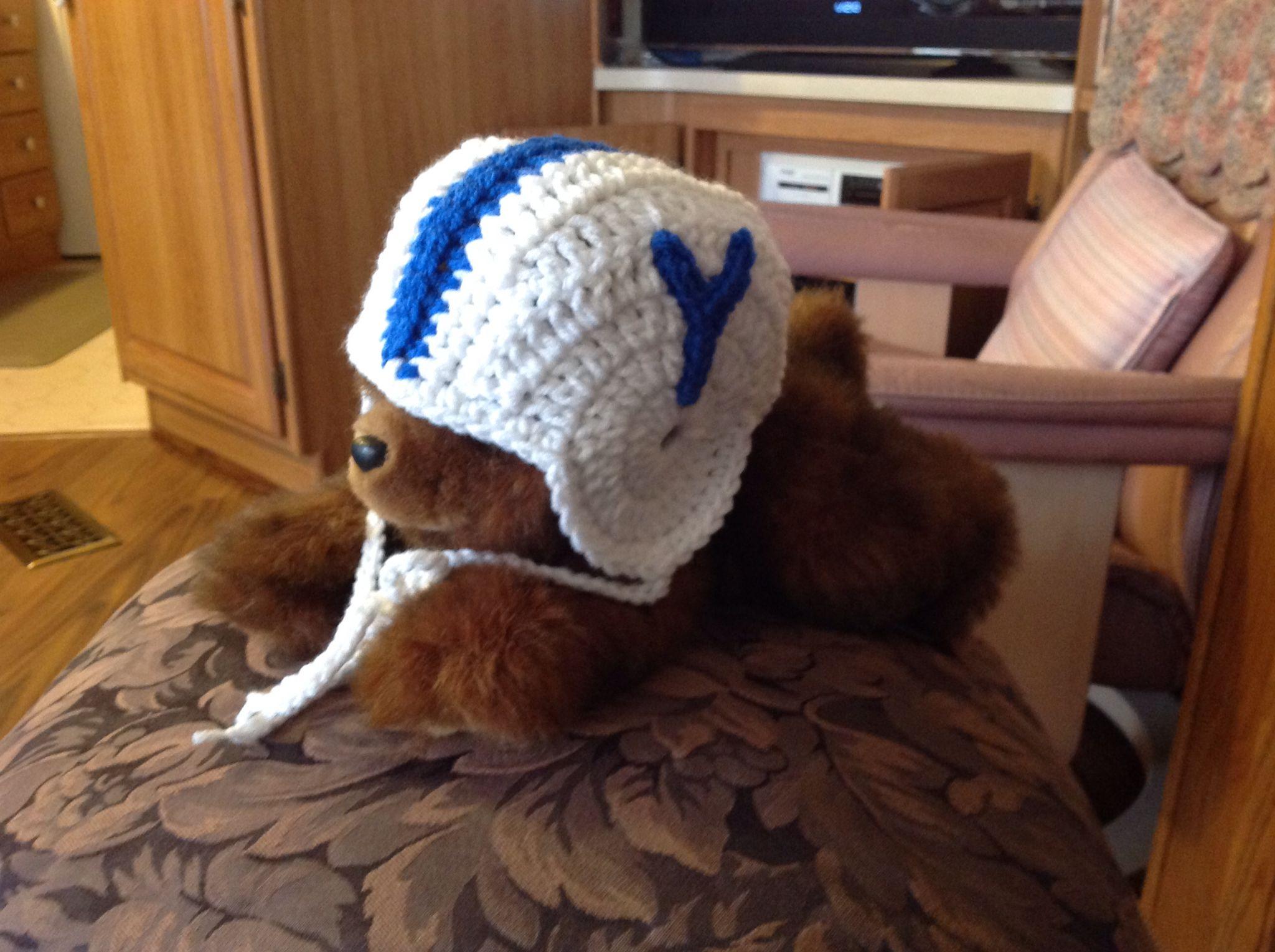 BYU Baby Helmet   Crocheted hats   Pinterest