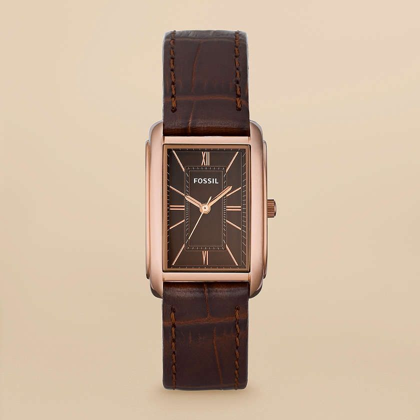 d368e9ef7 Adele Leather Watch - Brown $ 95 You'll love the iconic rectangular face of  this stainless steel rose gold-tone accented watch.