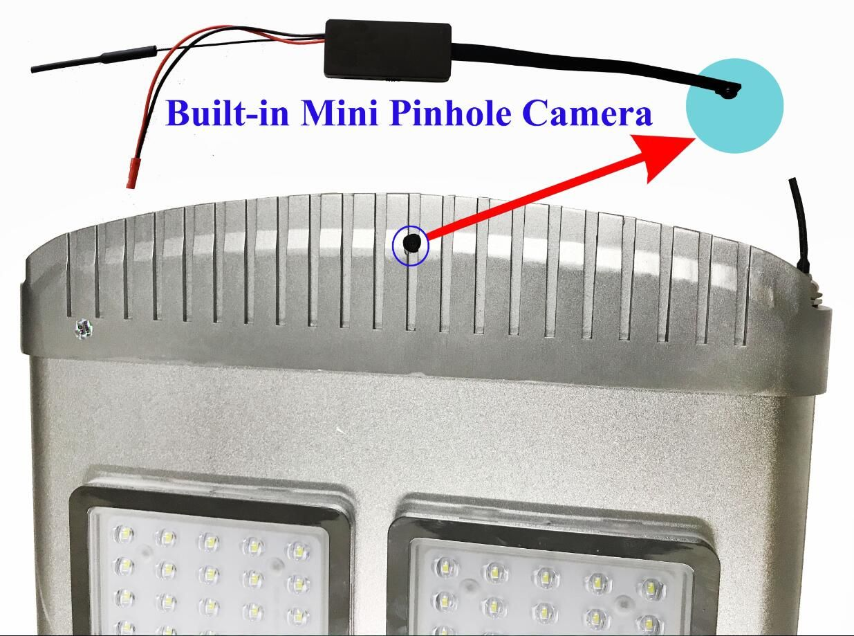 hight resolution of kd all in one solar street light with mini pinhole cctv camera