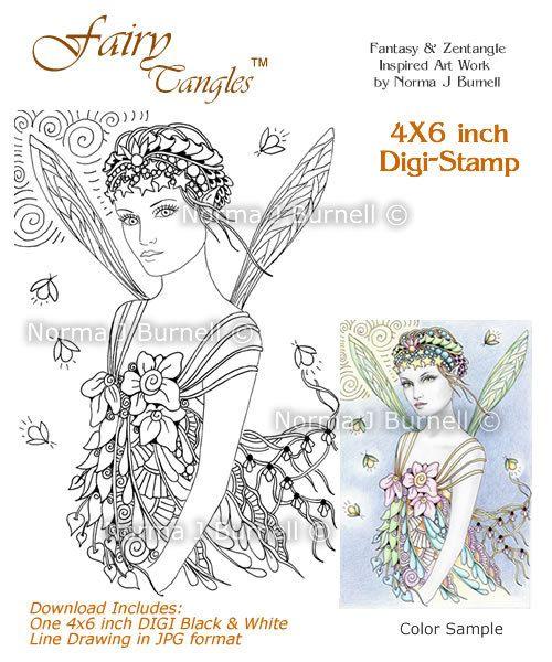 Enredan de hadas para imprimir sellos digitales por Norma J ...