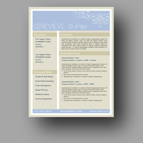 The  - creative resume templates for mac