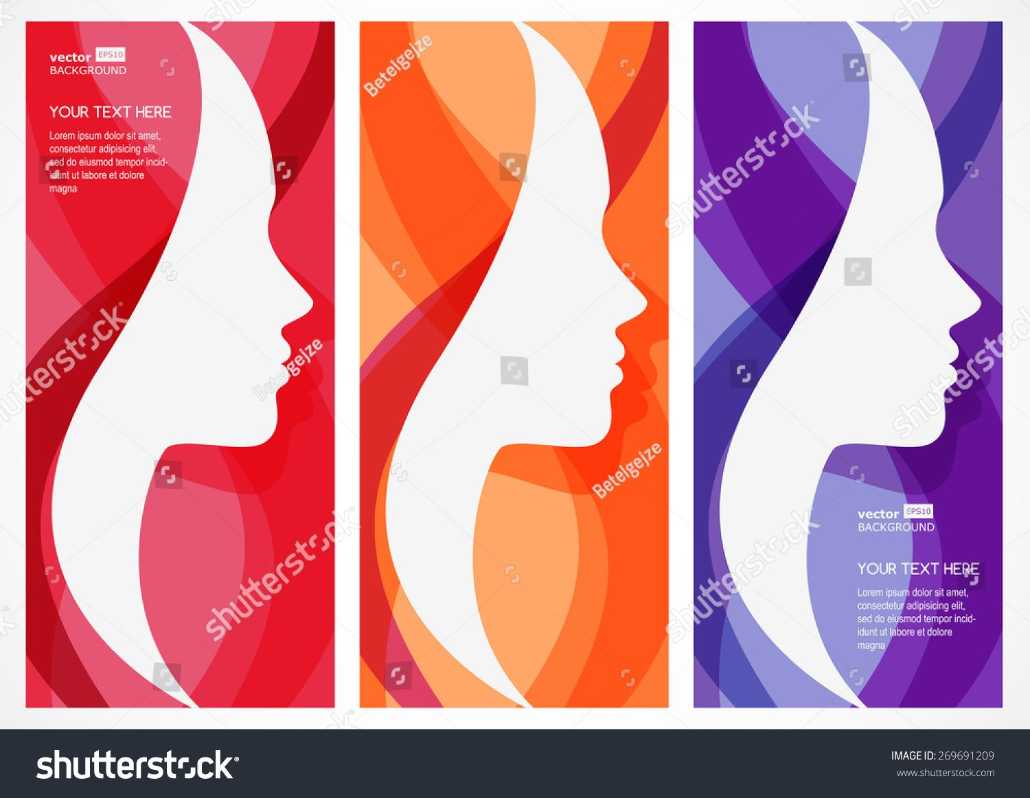 Set Of Vector Abstract Background With Woman S Face Silhouette Profile Of The Beautiful Girl Abstract Des In 2020 Woman Face Silhouette Abstract Backgrounds Abstract