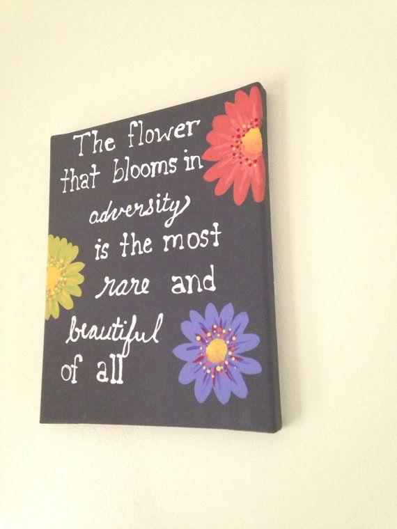 Disney Mulan Quote Painting Flower By ToBeCrafted