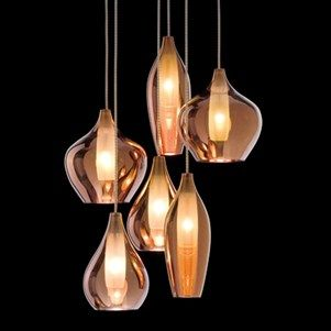 Tara Is A Suspension System In Single Three Or Six Diffusers In Borosilicate Blown Glass With An Inner Satin Copper Lighting Unusual Lighting Lighting Design