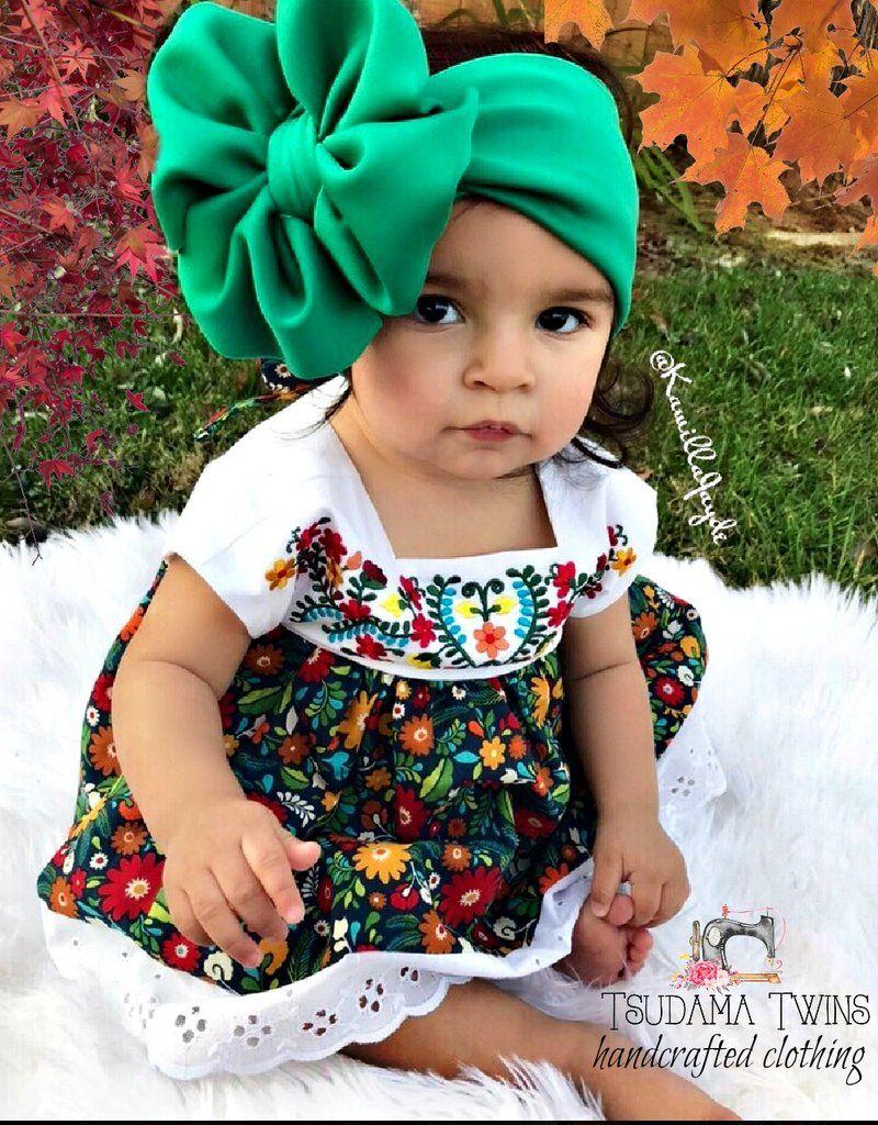 e4b89a0cdc48b Puebla inspired Mexican Dress Bebés Mexicanos