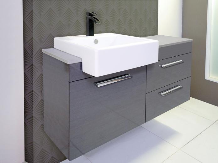 900 Semi Recessed Vanity Unit For