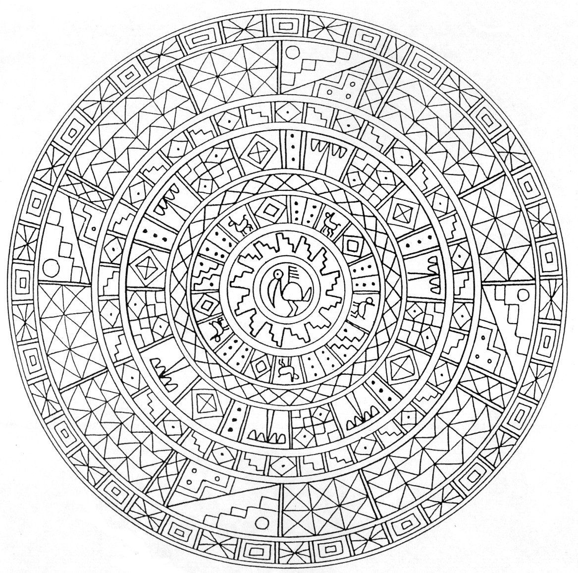 Sun mandala coloring pages - 29 Printable Mandala Abstract Colouring Pages For Meditation Stress