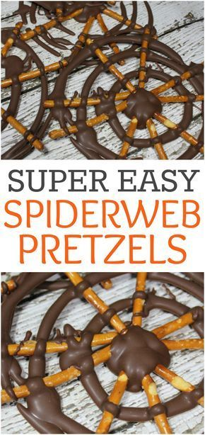 Spider Web Pretzels - Easy Halloween Treat Idea for Kids