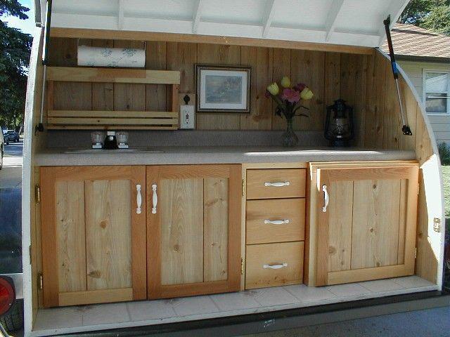 Custom Built Travel Trailers >> custom built kitchen in a teardrop trailer   Ricky's To Do List   Teardrop camper trailer ...