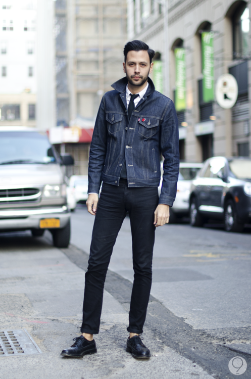 Combining the casualness of the denim jacket with the put ...