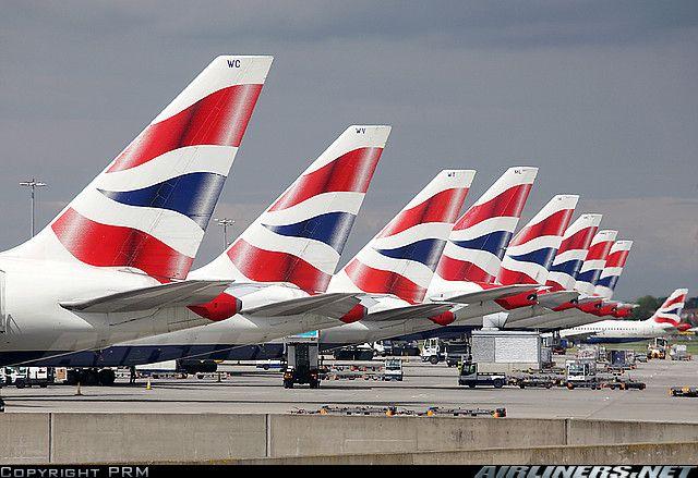 British Airways aircraft tails