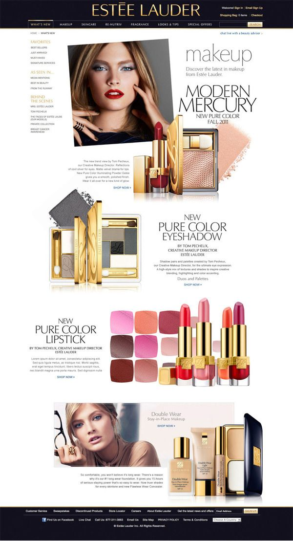 Beauty Editorial Pages by Rikki Lee Jew, via Behance