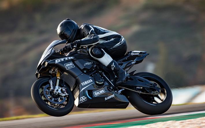 Download Wallpapers Yamaha Yzf R1 2018 Gytr Black Sport